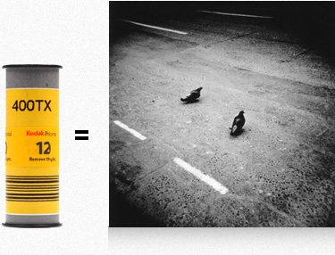 Example image of Kodak Tri-x 120 film